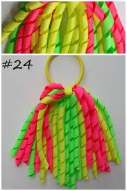 korker ribbon korker curly ribbon streamers bow ponytail holder elastic band