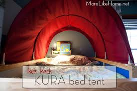 Bunk Bed Tent Ikea More Like Home Ikea Hack Kura Bed Tent Makeover