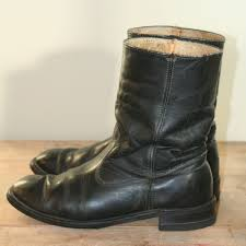men u0027s black leather boots vintage santa barbara institute for