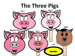 pigs masks puppet play script fun teach tpt