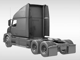 volvo new truck 2016 volvo vnl670 2016 3d model cgtrader