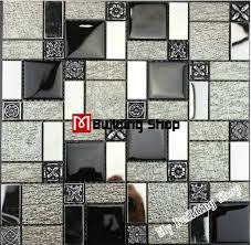 mosaic kitchen tile backsplash black white glass mosaic kitchen wall tiles backsplash rnmt100
