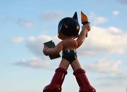 astro boy statue liberty colored