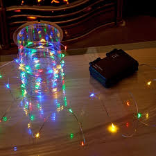 battery powered cl light battery operated 80 stargazer silver wire christmas lights