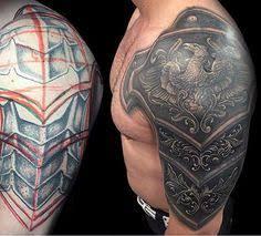 male with gladiator tattoo half sleeve art pinterest