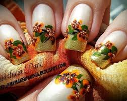 21 toe nail designs for thanksgiving nails in pics