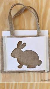 Diy Burlap Easter Decorations by Diy Burlap Bunny Bag Burlap Bunny And Easter