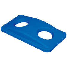 carlisle centurian 23 gal blue square trash can paper recycling