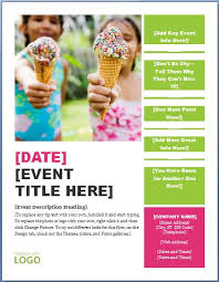 generic seasonal event flyer template formal word templates