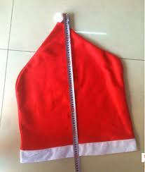 christmas chair covers santa clause hat chair back covers for christmas