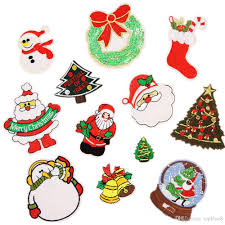 christmas banner christmas tree santa claus clothes sewing patch