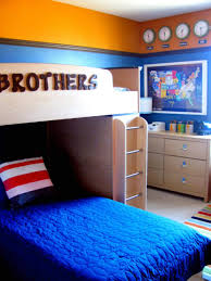 stunning design of boys room paint ideas in blue also orange wall