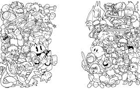 super smash bros coloring pages eson me