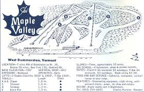 New England Area Map by 1967 68 Maple Valley Ski Area Trail Map New England Ski Map