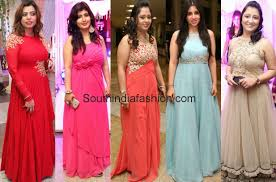 party wear long gowns u2022 south india fashion