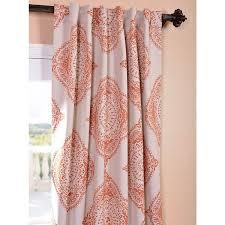 henna orange 50 x 96 inch blackout curtain half price drapes