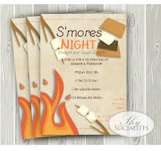 s u0027mores invitation smores camping invitation by shysocialites