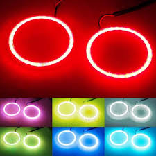 ring light effect app 2x rgb 90mm cob led angel eye lights halo rings phone app control