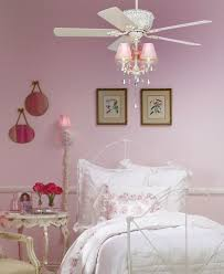 cute ceiling fans with white metal bed for teenage bedroom