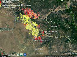 Wildfire Map Mariposa by 29 Structures Now Lost In Mariposa During Largest Wildfire In