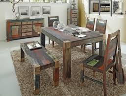 Esszimmer Set Ebay Esszimmer Mango Metall Tisch Bank 4x Stuhl Kommode