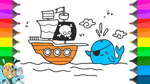 how to draw pirate ship coloring pages learning drawing