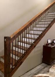 Staining Stair Banister Rustic Old Utility Pole Cross Arms Reclaimed Into Stair Railing