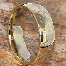the one ring wedding band one ring tungsten gold lord of the rings jewelry 7mm