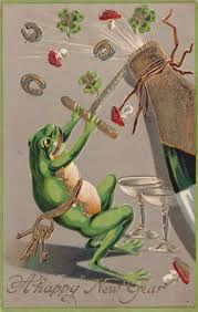 happy new year postcard frog happy new year pinterest frogs