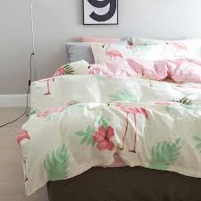Cotton Bedding Sets Flamingo Duvet Covers Fashion Flamingo Cotton Bedding Sets Cactus