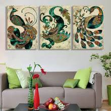 Peacock Living Room Decor High Quality Peacock Art Prints Promotion Shop For High Quality