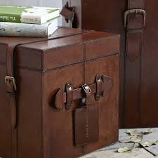 leather trunk in medium small and large by life of riley