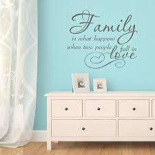 family love quote vinyl wall sticker by mirrorin