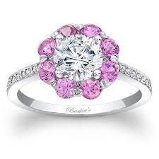 flower halo engagement ring barkev s white gold flower halo pink sapphire engagement ring