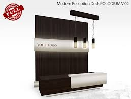 Reception Desk With Display Second Marketplace Perm Polodium Modern Reception Desk V 2