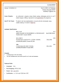 Best Resume Format For It Engineers by Fresher Resume Format For Mca Student Resume Format Download For