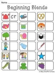blends dominoes literacy station activities for kindergarten