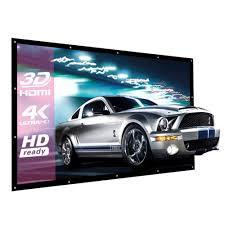 home theater screen fabric amazon com excelvan indoor outdoor portable movie screen 120 inch