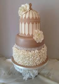 shabby chic birdcage ruffle wedding cake cake by vicki graham