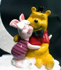 winnie the pooh cake topper piglet winnie the pooh groom wedding cake topper your my
