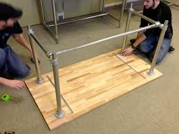 Diy Pipe Desk by Diy Standing Desk Legs Best Home Furniture Decoration