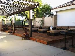 beautiful brown wood modern design decorating outdoor livingroom