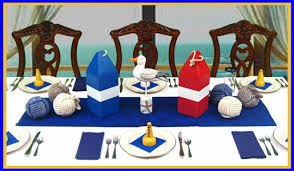 ocean themed centerpieces nautical table decorations dinner