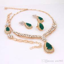 emerald gold necklace images 2018 24k gold jewelry set imitation jewelry emerald necklace set jpg