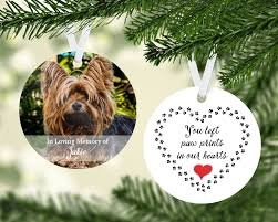 personalized pet memorial ornament pet memorial gift