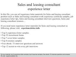 Leasing Consultant Sample Resume Sample Resume For Leasing Consultant Free Resume Samples Leasing