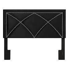 uptown studded headboard king size black velvet at home at home
