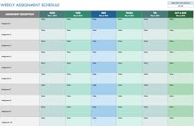 Sample Floor Plans For Daycare Center Free Weekly Schedule Templates For Excel Smartsheet