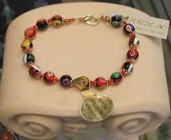 murano glass bead bracelet images Red millefiori bead bracelet murano glass made in italy at jpg