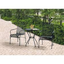 padio chairs wrought iron 3 piece chairs table patio furniture